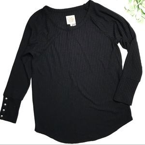 CHASER   sz XL black thermal long sleeve tee
